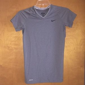 Nike Dri-Fit Fitted Athletic V Neck